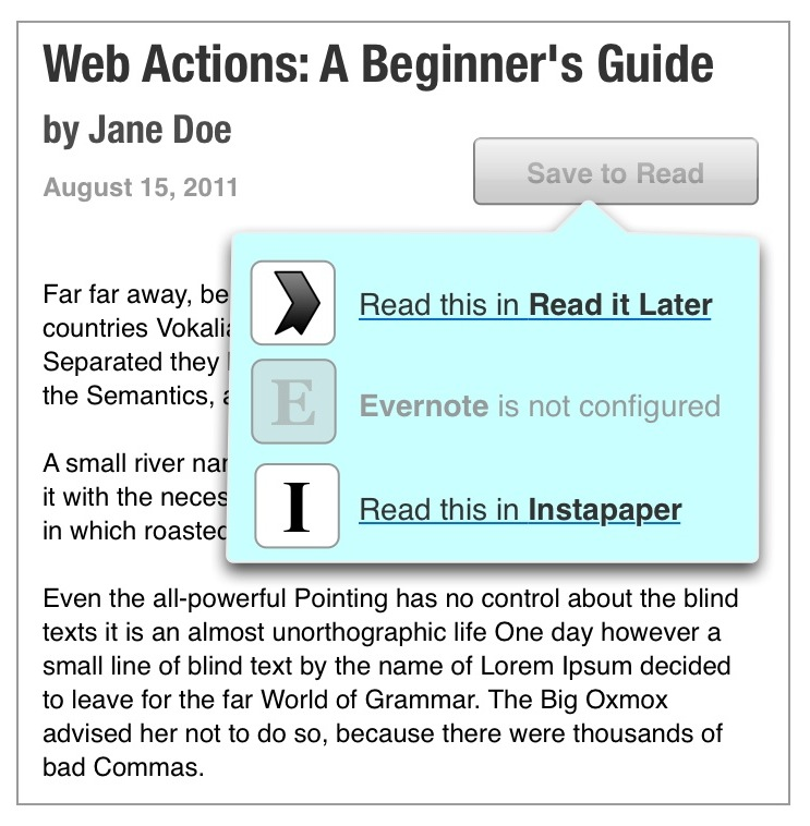 Web Actions Step 2
