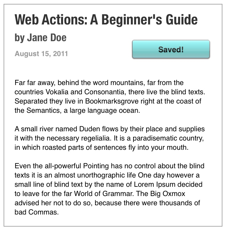 Web Actions Step 4